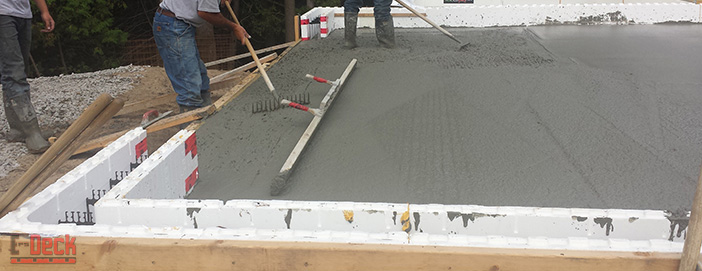 Insulated concrete deck forms by eps deck image gallery for Icf concrete roof