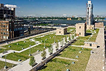 ICF Green Roof Construction in the United States - USPS Green Roof in New York City