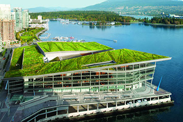 ICF Green Roof Construction in Canada - Vancouver's Convention Centre Green Roof